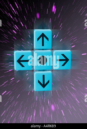 Arrows in 4 directions Pfeile in 4 Himmelsrichtungen - Stock Photo