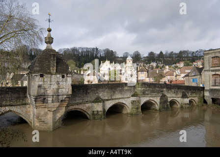 February 2007 Bradford on Avon Wiltshire UK Town Bridge - Stock Photo