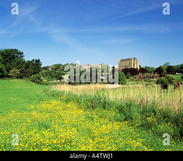 GB   SUSSEX   THE SOUTH DOWNS   ADUR VALLEY AND LANCING COLLEGE - Stock Photo