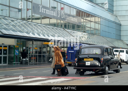 Terminal 3 departures building at London Heathrow Airport southern England United Kingdom United Kingdom UK - Stock Photo
