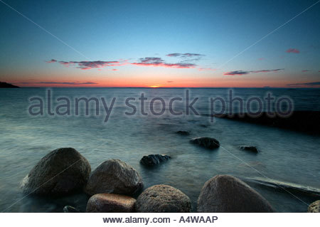 Coastal landscape from Larkollen in Rygge kommune, Østfold fylke, Norway. - Stock Photo