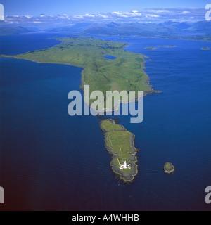 Eilean Musdile Lismore Island Scotland aerial view - Stock Photo