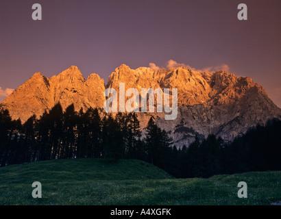 Summit of the Spik in the Martuljek mountain range, Triglav National Park, Slovenia - Stock Photo