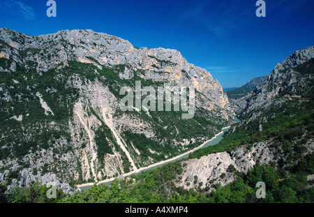 view on the Grand Canyon of  Verdon, France, Provence - Stock Photo
