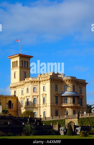 Osborne House Main Building, East Cowes, Isle of Wight, England - Stock Photo