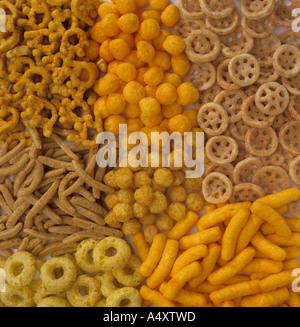 Assortment of snacks - Stock Photo