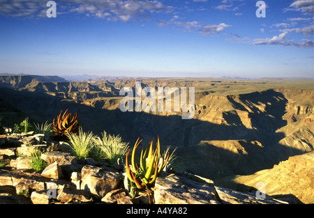 Fish River Canyon in southern Namibia south west Africa - Stock Photo