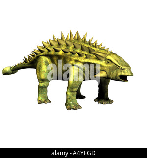 The Talarurus is called basket tail and in the upper jurassic period occurred. The length amounted to approx. 6 - Stock Photo