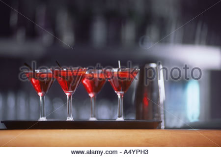 Row of cocktails - Stock Photo