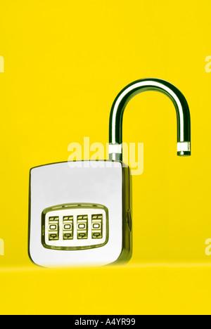 padlock lock Zahlenschloss Vorhängeschloss - Stock Photo