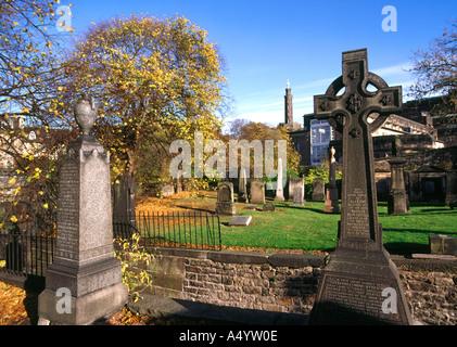 dh  CALTON EDINBURGH Graves in Old cemetery burial ground - Stock Photo
