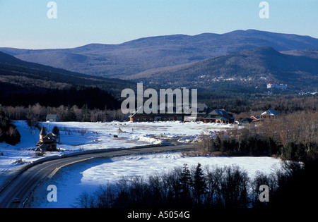 Crawford Depot train station in New Hampshire s White Mountains - Stock Photo