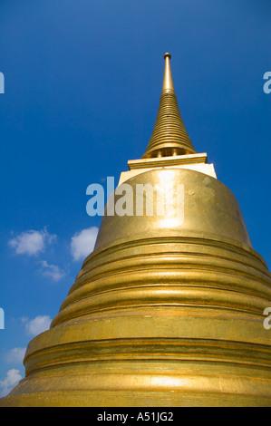 Stupa at Golden Mount Wat Saket Bangkok Thailand - Stock Photo