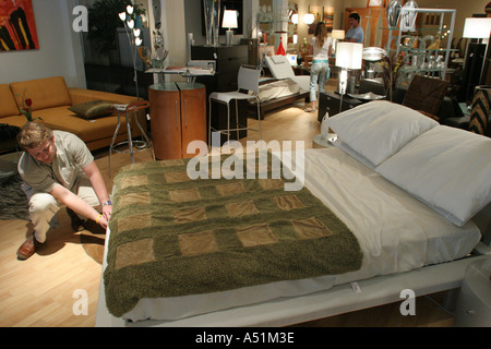 Affordable Miami Florida South Dixie Highway Furniture Store Italian Made  Platform Bed Salesman Stock Photo With Furniture Stores South Florida