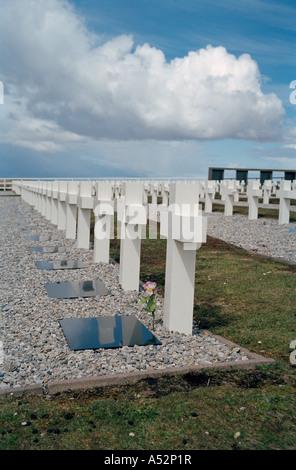 Argentine Military Cemetery, (Cementerio de Darwin), Darwin, East Falkland, Falkland Islands, South Atlantic - Stock Photo
