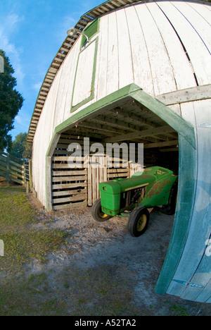 old barn tractor Edna Pearce Lockett Estate Florida Pioneer
