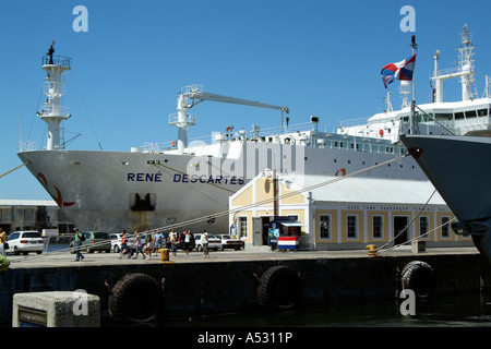 Rene Descartes ship Port of Cape Town South Africa RSA - Stock Photo