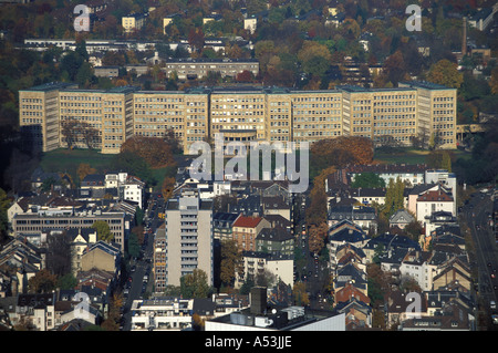 Germany, Frankfurt / Main : Hans-Poelzig building, architect of this monumental- klassizistic building erased from - Stock Photo