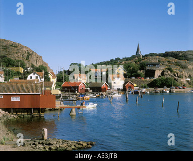 Fjallbacka Sweden at the skerry coast near Göteborg - Stock Photo