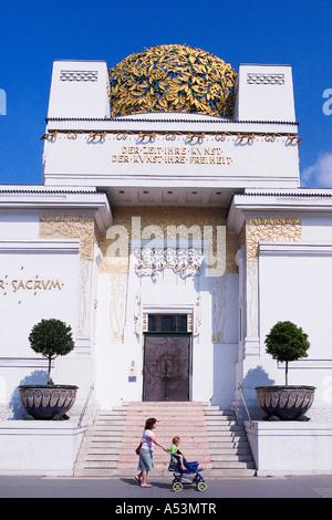 Secession Building Art Gallery and Museum Vienna Austria Europe EU - Stock Photo