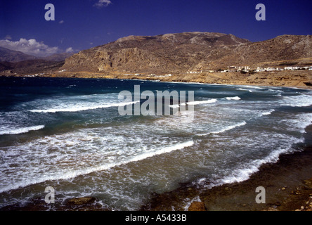 Cape Arkasa Finiki Greek Island of Karpathos Dodecanese Aegean Sea Greece Europe - Stock Photo