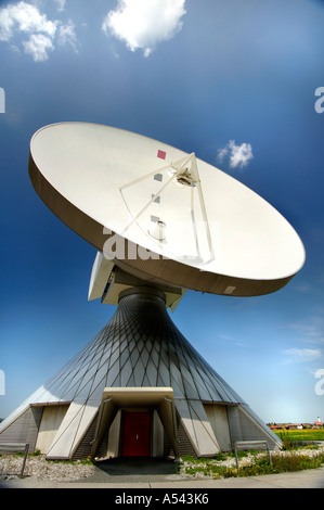 Antenna aerial museum in Raisting Bavaria Germany - Stock Photo