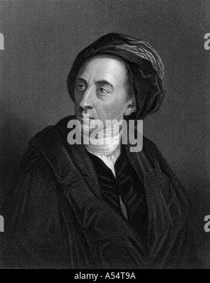 ALEXANDER POPE English poet 1688 1744 - Stock Photo