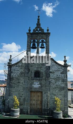 The chapel of St Eulalia at Leiro on the Camino Ingles the English Pilgrim s Way to Santaigo de Compostela Galicia - Stock Photo