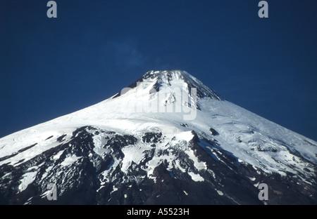 Villarrica volcano, Villarrica National Park, near Pucon, Chile - Stock Photo