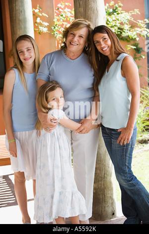 Four female family members - Stock Photo