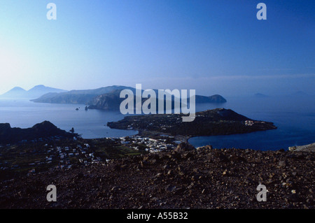 Eolie islands Sicily Italy - Stock Photo