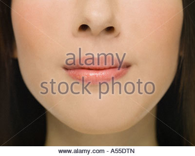 Womans lips - Stock Photo