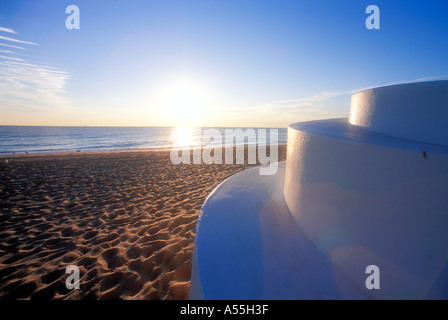 Sunrise on Ft Lauderdale beach in Florida USA - Stock Photo