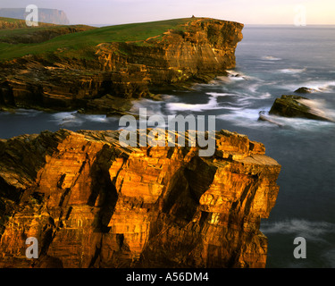 GB - SCOTLAND:  Coastline at Yesnaby on Mainland Orkney - Stock Photo