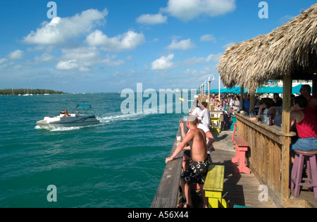 Sunset Pier bar in the historic Old Town, Key West, Florida, USA - Stock Photo