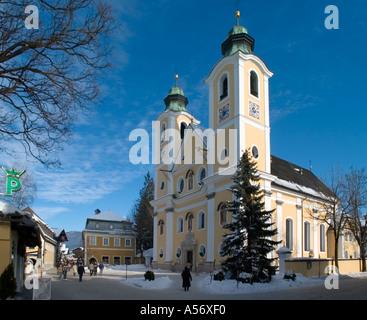 Church in the town centre, St Johann in Tyrol, Tyrol Austria - Stock Photo