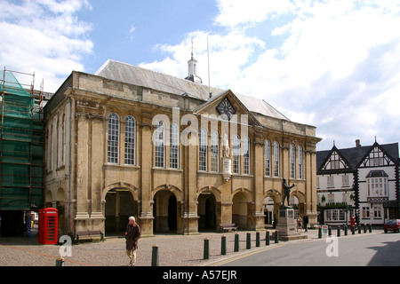 UK Wales Gwent Monmouth Agincourt Square and Shire Hall - Stock Photo