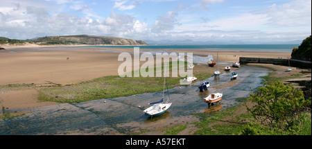 Wales Gwynedd Abersoch Penrhyn Du and old harbour - Stock Photo