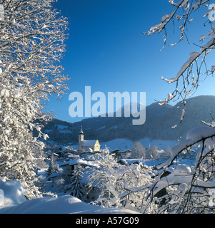 View of Church in Resort Centre, Soll (Soell), Tyrol, Austria - Stock Photo