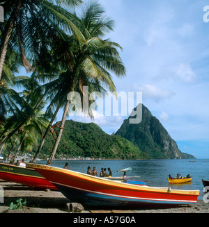 Petit Piton, The Pitons, Soufriere, St Lucia, West Indies, Caribbean - Stock Photo
