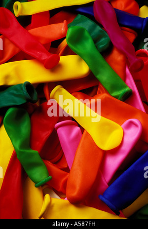 A pile of rubber toy balloons - Stock Photo
