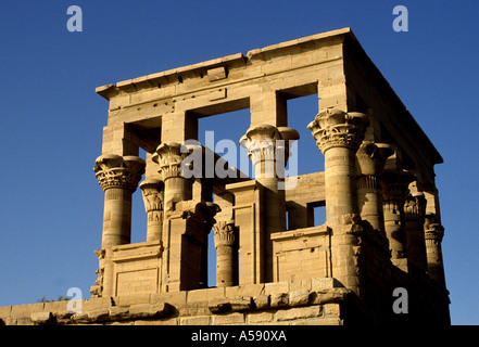 Temple of Philae the temple complex of Isis on the Island of Philae - Stock Photo