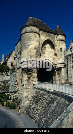 La Port D Ardon gateway hilltop town of Laon in Picardy France - Stock Photo