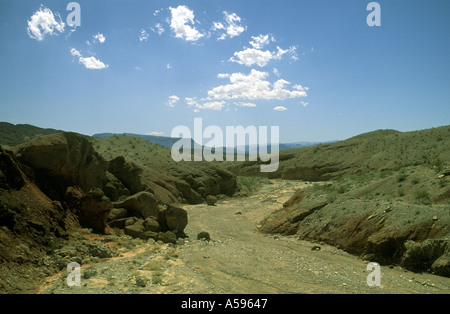 DRY RIVER BED DEATH VALLEY CALIFORNIA - Stock Photo