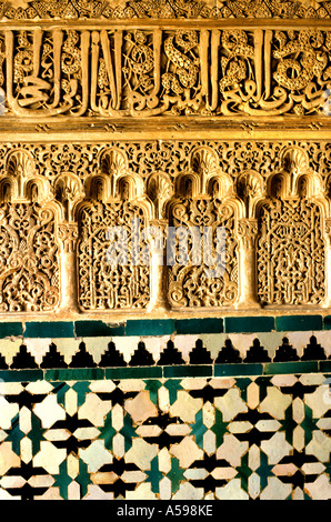 Alhambra Granada Spain Andalusia golden palace - Stock Photo