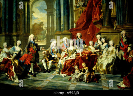 Charles IV and family  Madrid Spain Francisco José de Goya y Lucientes Spain Spanish - Stock Photo
