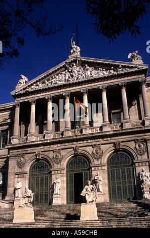The National library  Madrid  Spain Spanish book - Stock Photo