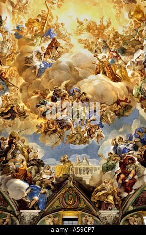El Escorial monastery royal palace museum Spain Spanish - Stock Photo