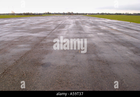 Runway of former World War Two airfield at Hengrove Park Bristol now a brown field development site - Stock Photo
