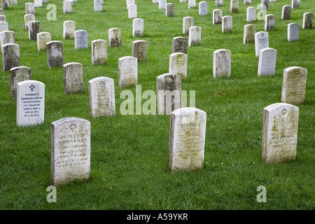 Cemetery Hill, Gettysburg National Cemetery, Pennsylvania, USA - Stock Photo